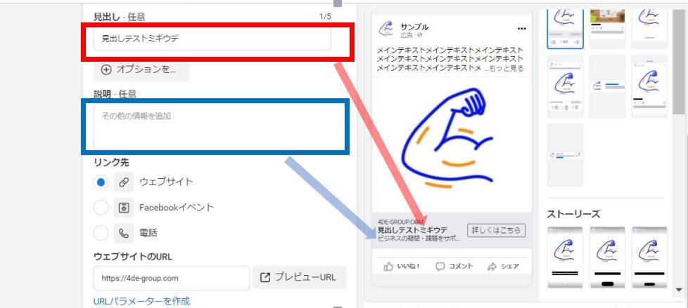 facebook広告内容作成方法3画像