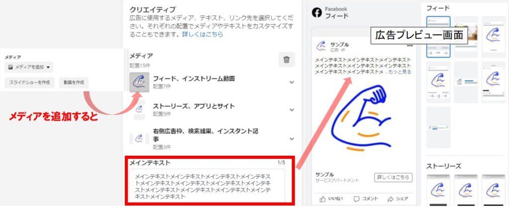 facebook広告内容作成方法2画像