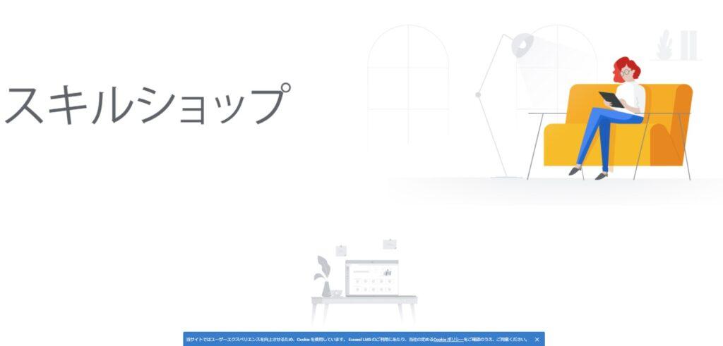Googleスキルショップサイトページ画像